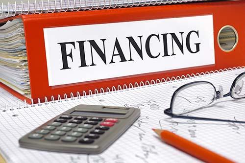 binder that says financing